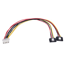 SATA Cable 15Pin to Big4P Double Line